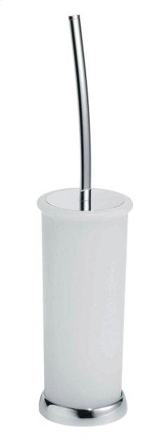 Free Standing Toilet Brush Holder - Brushed Nickel