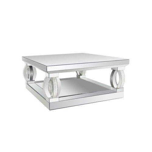 Contemporary Silver Mirrored Coffee Table