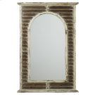 Distressed White Shutter Framed Wall Mirror. Product Image