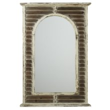 Distressed White Shutter Framed Wall Mirror
