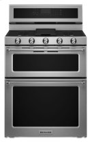 30-Inch 5 Burner Dual Fuel Double Oven Convection Range - Stainless Steel Product Image