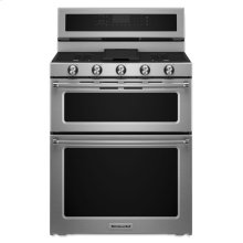 30-Inch 5 Burner Dual Fuel Double Oven Convection Range - Stainless Steel