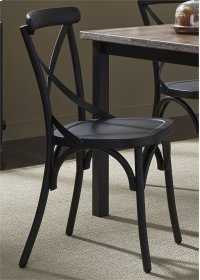 X Back Side Chair - Black Product Image