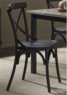 X Back Side Chair - Black