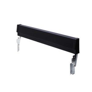 Black Slide-In Range Adjustable Metal Backguard -