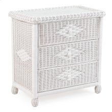 Wicker 3 Drawer Chest Cotton 3703