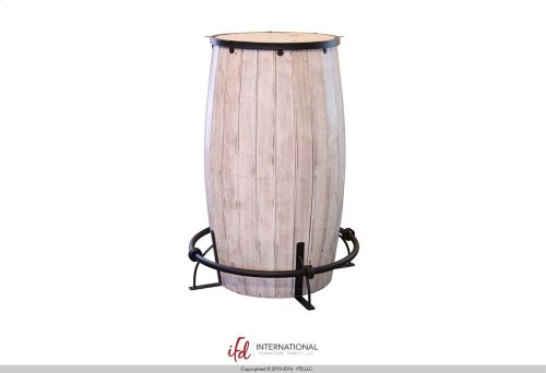 Bistro Table base Barrel shaped - White finish