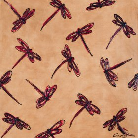 "Oil Painting ""Dragonflies"""