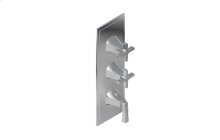 Finezza DUE Thermostatic 3-Hole Trim Plate and Handle