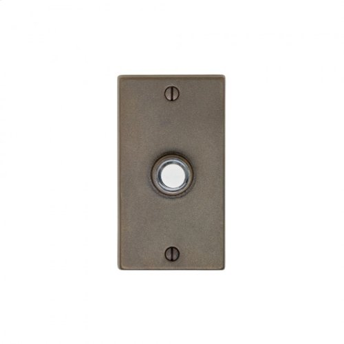 Metro Doorbell Button Bronze Dark Lustre