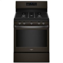 Whirlpool® 5.0 cu. ft. Freestanding Gas Range with Fan Convection Cooking - Black Stainless