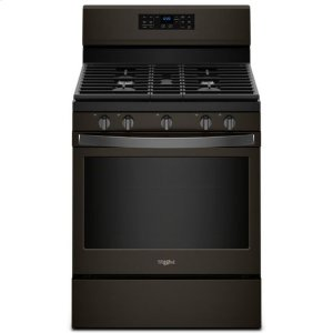 Whirlpool® 5.0 cu. ft. Freestanding Gas Range with Fan Convection Cooking - Black Stainless - BLACK STAINLESS