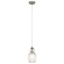 Riviera Collection Riviera Round 1 Light Mini Pendant NI