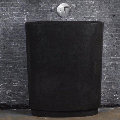 Infinity Pedestal Sink, Black Granite