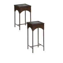 Distressed Square Side Table. (2 pc. set)