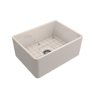 "Calixo Single Bowl Fireclay Farmer Sink - 24"" - Bisque Product Image"
