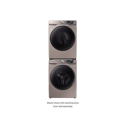 WF6100 4.5 cu. ft. Front Load Washer with Steam in Champagne