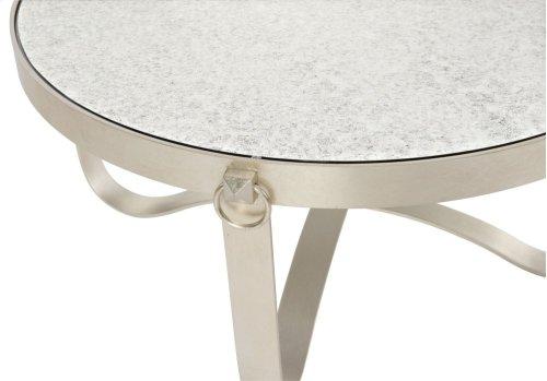 Portia Metal Round Cocktail Table