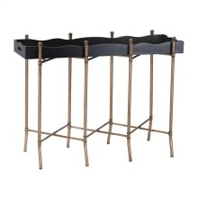 Black and Gold Tray Style Console