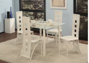5 Pc. White Contemporary Dining Set Product Image