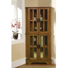 Traditional Warm Brown Curio Cabinet