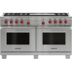 """Wolf60"""" Dual Fuel Range - 6 Burners and Infrared Dual Griddle"""