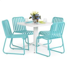 0100 Series 5PC Dining Set Turquoise Finish