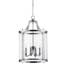 Payton 4 Light Pendant in Chrome with Clear Glass