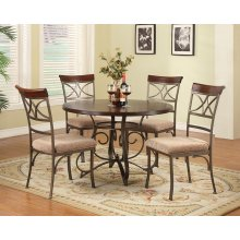 5-Pc. Hamilton Dining Set - (1) 697-413 Dining Table & (4) 697-434 Side Chairs