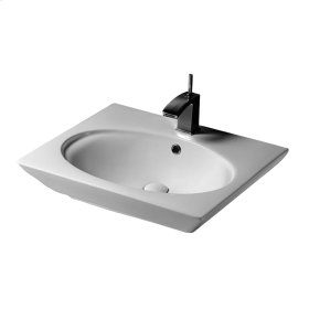 """Opulence 23"""" Above Counter Basin - """"Hers"""" - White"""