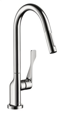 Chrome Citterio 2-Spray HighArc Kitchen Faucet, Pull-Down