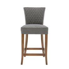 Quilted Counter Stool - Gray