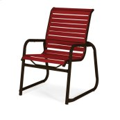 Reliance Contract Strap Stacking Sled Base Arm Chair
