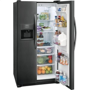 22.1 Cu. Ft. Side-by-Side Refrigerator - BLACK STAINLESS STEEL