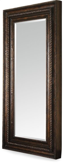 Floor Mirror w/Hidden Jewelry Storage
