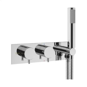 MPRO 1701 Horizontal Thermo Valve Trim (2 Outlets) - Polished Nickel