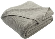 LOVEABLE KNIT THROW - Light Grey / Natural