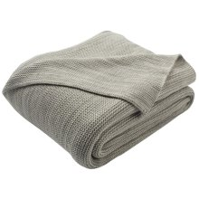 Loveable Knit Throw - Light Grey/natural