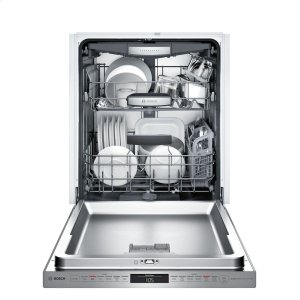 Bosch800 DLX Pckt Hndl, 6/6 cycles, 42 dBA, Flex 3rd Rck, UR glide, Touch Cntrls, InfoLight - SS