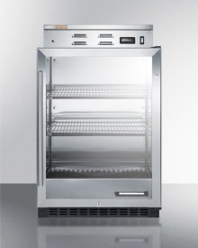 Single Chamber Warming Cabinet With Glass Door, Stainless Steel Interior, Digital Thermostat, and Lock