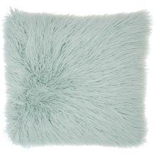 "Faux Fur Bj101 Sky 17"" X 17"" Throw Pillows"