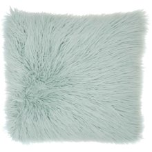 "Faux Fur Bj101 Sky 17"" X 17"" Throw Pillows"