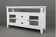 "Artisan's Craft Storage 54"" TV Console - Weathered White"