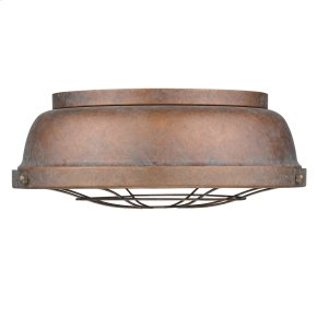 Bartlett Flush Mount in Copper Patina
