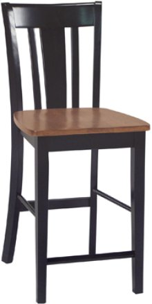 "24"" San Remo Stool Cherry & Black"