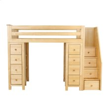 All in One Staircase Loft Bed Storage   Storage Natural