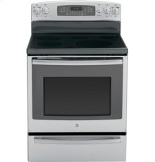"""GE Profile™ Series 30"""" Free-Standing Electric Convection Range with Warming Drawer"""