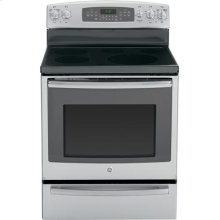"GE Profile™ Series 30"" Free-Standing Electric Convection Range with Warming Drawer"