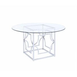 Modern Chrome Dining Table Base