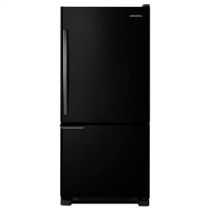 AMANA29-inch Wide Bottom-Freezer Refrigerator with Garden Fresh™ Crisper Bins -- 18 cu. ft. Capacity - black